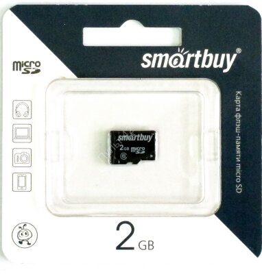 Smart Buy 2GB micro SD без адаптера