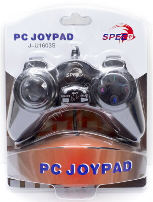 JNP-U1603S SPEED Game Pad for Single Player, Black, PC-USB